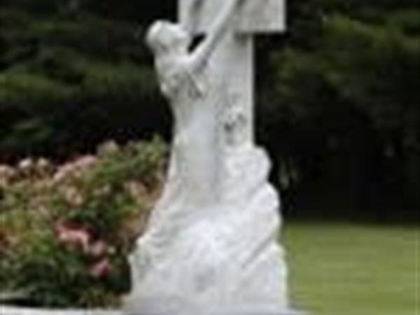 Beautiful features adorn each garden of the cemetery.