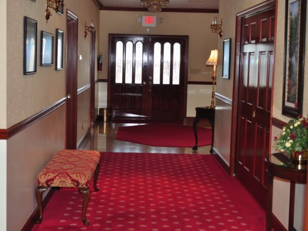 Hallway to the front entrance