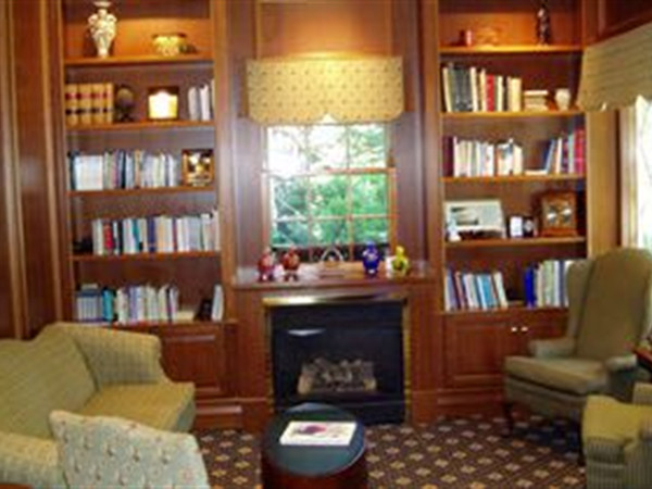 Our Library is the site of our monthly support group meetings, and numerous other uses.  We often use the library for arrangement conferences when serving families.  The room features wireless computer capabilities with a wireless monitor to aid in presenting options for the families.