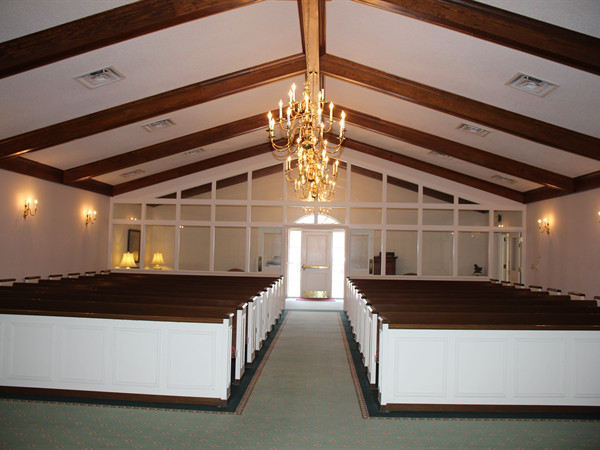 chapel view facing the foyer.