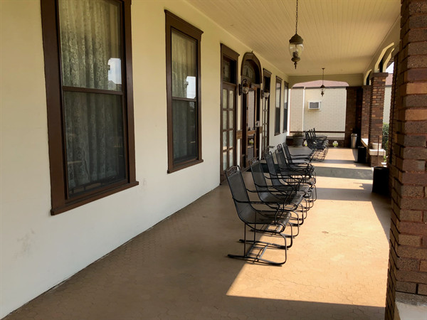 Banks Funeral Home Front Porch