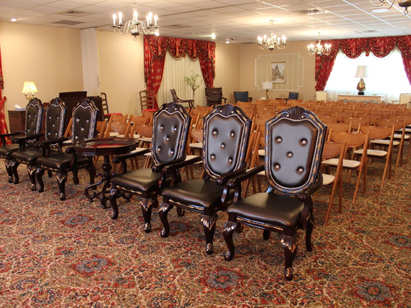 Rose Chapel 100 physical chairs.  Room occupancy 200+