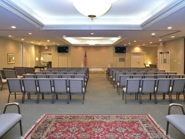 Gathering Area/Chapel- When used as a formal chapel, we have seating for 275 in this worshipful space.