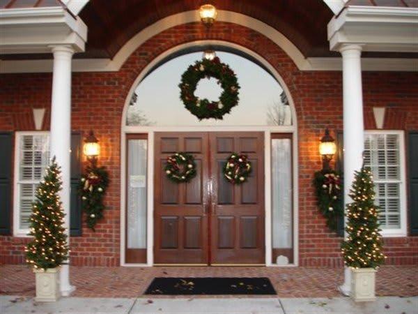 Front Entrance (Christmastime)