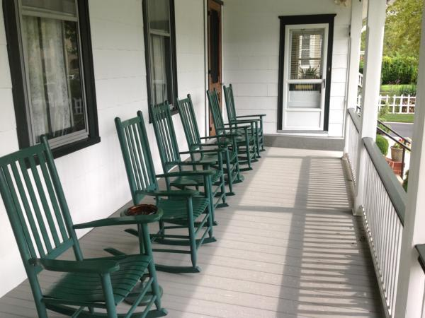 Our front porch is a nice get-away that overlooks one of Cape May's most beautiful streets, Historic Washington Street.