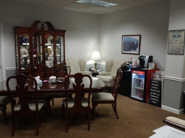 "Horne's spacious ""Home Like"" arrangements office."