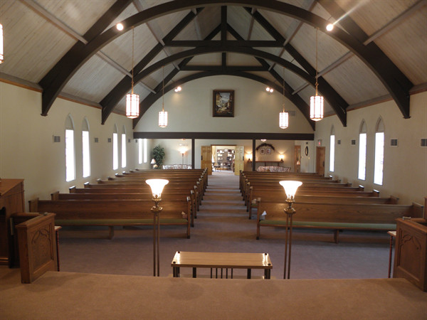 Our comfortable chapel can accommodate up to 300