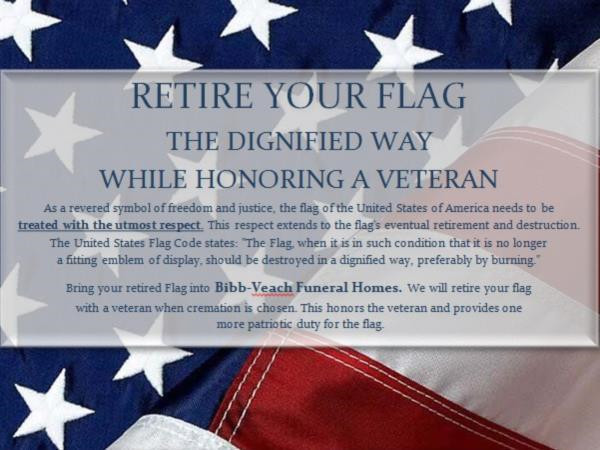 Flag Retirement Program  BibbVeach Funeral HomeS Llc  Bowling