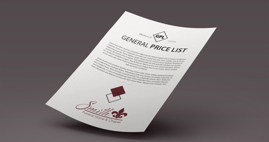General Price List