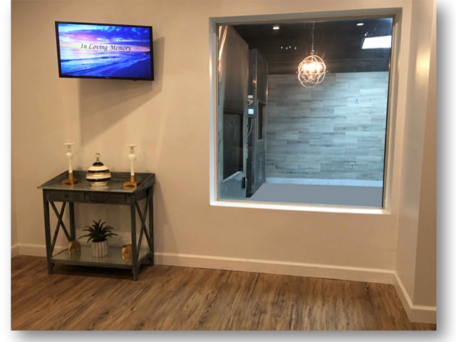 State of the Art Cremation Viewing Room Miami, FL, Kendall, Miami Beach, Coral Gables