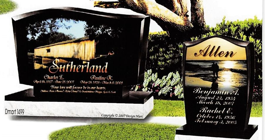 Monuments & Death Date Lettering