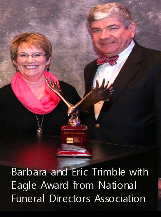 Trimble is one of Seven Illinois Funeral Homes recognized as superior by the National Funeral Directors Association