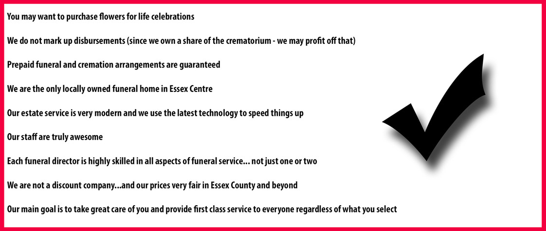 Basic Cremation Kingsville Essex Leamington cremation price Tecumseh