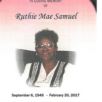Ruthie Mae Samuel