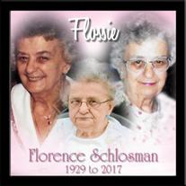 "Florence Eleanor ""Flossie"" Schlosman"