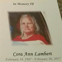 Cora Ann Seeby Bennett Lambert