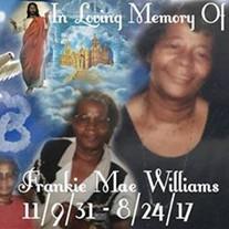 Mrs. Frankie Mae Williams
