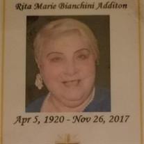 Rita Marie Bianchini Additon