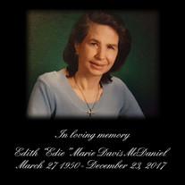 """Edith """"Edie"""" Marie Davis McDaniel"""
