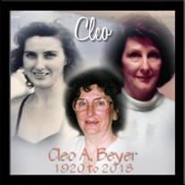 Cleo A. Beyer